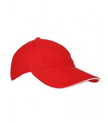Kids` Brushed Cap - Coton brosé | 5 panneaux renforcés | Fermeture de sangle | Trous d'aération brodés | Version bicolore avec b