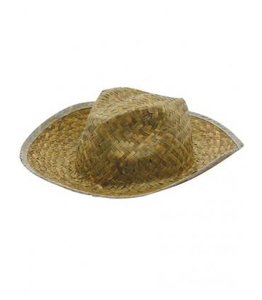 Straw Hat Paglietta - Chapeau sans ruban | Tour de tête env. 58-60 cm | Ruban de chapeau assorti C2071 -Marque: Printwear