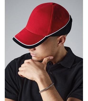 Teamwear Competition Cap - 5 panneaux | Rip-Strip ajusteur de taille | 100% cotton sergé | Visière précourbée | Trous d'aération