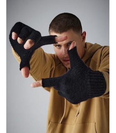 Fingerless Gloves - Style sans doigts | Manchette côtelée | Tricoté en une seule pièce | Matériau Soft-Touch | Livraison sans dé