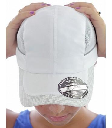 Runner Cap - Taille unique | 4 panneaux | panneaux devant non-structurés | Visière précourbée | Fermeture arrière de même tissu