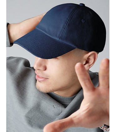 Low Profile Heavy Cotton Drill Cap - Coutil de coton lourd | sangle en tissue avec boucle à triple glissement | Surface avant ce