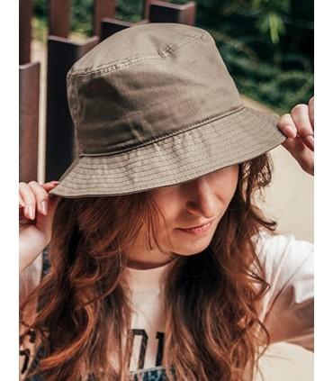 Bucket Cotton Hat - Bob souple | Taille unique | Forme de godet | Fond arrondie | Bord souple | Entièrement fermé | Pas d'oeille