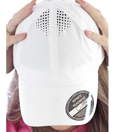 Air Cap - Casquette de baseball en polyester avec trous découpés au laser sur le dessus | Taille unique | 6 panneaux | Panneaux