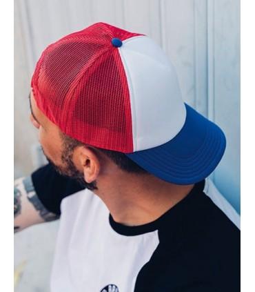 Rapper Cap - Panneau face avant structuré | Visière précourbée | Fermeture PVC | Pas d'oeillets | Bandeau de transpiration 100%
