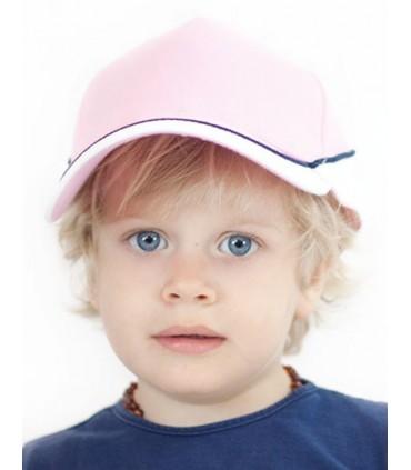 Kid Racing Cap - 5 panneaux | Piping | Oeillets surpiqués | Avec inserts | Panneau face avant structuré | Visière précourbée | F
