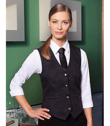 Ladies` Vest Lena - Avec fermeture à bouton-pression | Ceinture ajustable à l'arrière avec boutons à pression | Fausses poches p