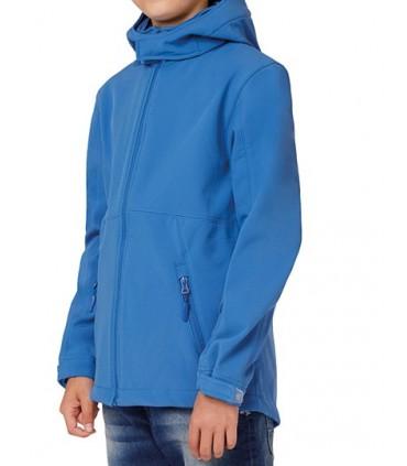 Hooded Softshell / Kids - softshell 3 couches - haute performance | Capuche passe-montagne détachable | Ouverture intégrale pa f