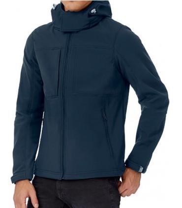 Hooded Softshell / Men - softshell 3 couches - haute performance   Capuche passe-montagne détachable   Manches à la forme parfai
