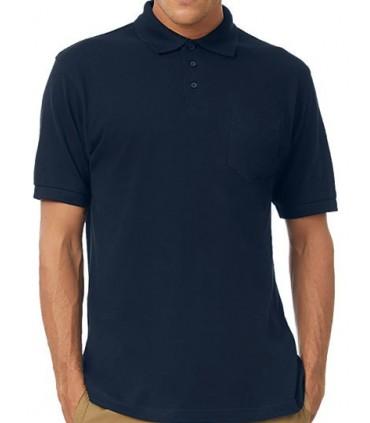 Polo Safran Pocket / Unisex - 100% coton peigné filé à l'anneau pré-rétréci | Col et bords de manche en côte 1x1 | Bande de prop