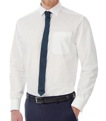 Poplin Shirt Heritage Long Sleeve / Men - 100% coton peigné | Col cutaway | Boutons nacrés assortis cousus en croix | Base arron