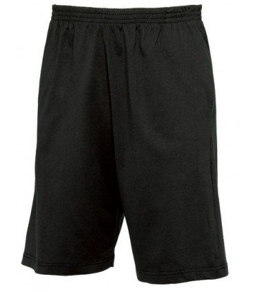 Shorts Move - 100% coton filé à anneaux pré-rétréci | Longueur genoux | Taille élastiquée | 2 poches latéralles et 1 poche plaqu