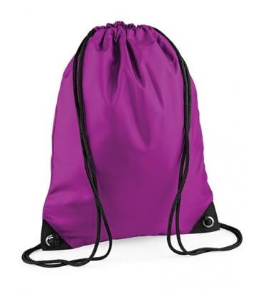 Premium Gymsac - 210D Polyester - 100g/m² Argent - 210D Nylon | Résistant à l'eau | capacité: 11 litres | Coins renforcés avec i