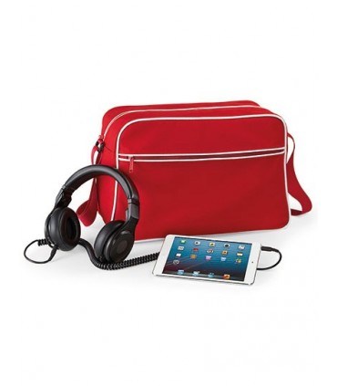 Retro Shoulder Bag - 600D Poyester | Bandoulière ajustable | Poche intérieur pour objets de valeur | Poche avant zippée | Capaci