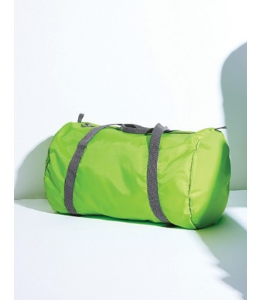 Packaway Barrel Bag - 210D Polyester, Argent - 210D Nylon | Compartiment principal zippée | Poche de rangement/ poche interne |