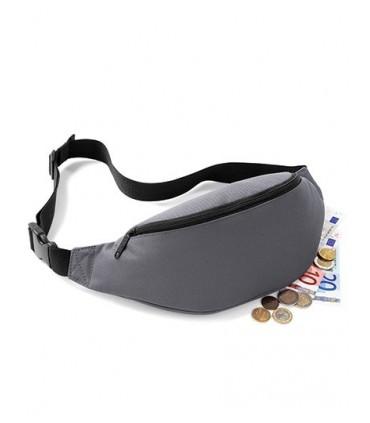 Belt Bag - 600D Poyester | Ceinture tissée réglable avec clip sécurisée | Grand compartiment principale | Poche arrière zippée |