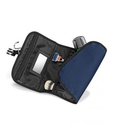 Wash Bag - 600D Poyester | Multiples poches internes | Miroir inclus | Dragonne de suspension | Capacité: 1 litre | Poche avant
