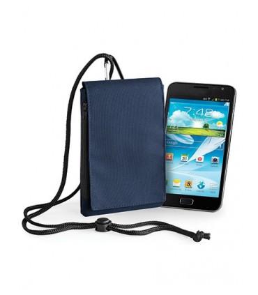 Phone Pouch XL - 600D Poyester | Passant de ceinture et mousqueton | Cordon amovible et ajustable à porter autour du cou | Convi