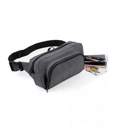 Organiser Waistpack - 600D Poyester | Ceinture réglable | Compartiment à chaussure/poche pour objet humide | Poche arrière zippé