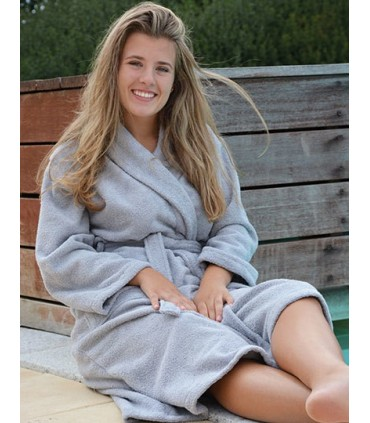 Bathrobe Shawl Collar - Peignoir adulte col châle | Port doux et confortable | Tailles généreuses Allemand | Tailles généreuses,