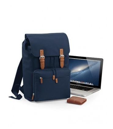 Vintage Laptop Backpack - 600D Poyester | Étiquette détachable pour faciliter la modification de la marque | EasyPocket pour fac