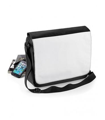 Sublimation Messenger Bag - Microfibre / 600D Polyester | Panneau de décoration optimisé pour la presse | Bandoulière ajustable