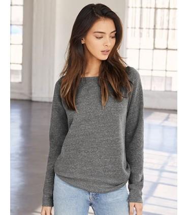 Women`s Sponge Fleece Wide Neck Sweatshirt - cton peigné, filé à l'anneau | Coupe décontractée | Larges côtes à lourlet et aux p