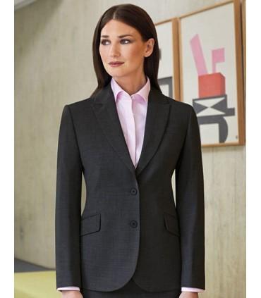 Sophisticated Collection Novara Jacket - Coupe ajustée | Veston à 2 bourtons | Détails contractés sur revers et poches | Vente d