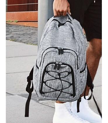 Outdoor Backpack - Rocky Mountains - Sac à dos en polyester 600D gris mélangé | Un compartiment principal avec fermeture zippée