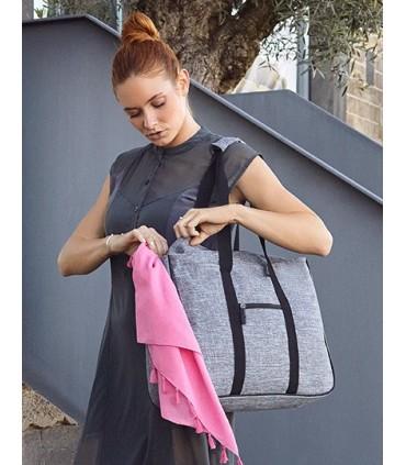 Shopping Bag - Fifth Avenue - en polyester 600D Sac de plage et d'achats pour le sport et les loisirs en grey melange | Un compa