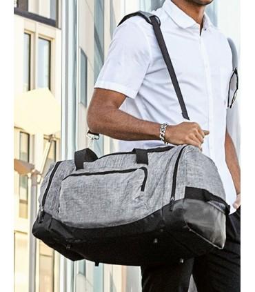 Allround Sports Bag - Atlanta - Sac de sport multifonctionnel en polyester 600D en grey melange | Un compartiment principal avec