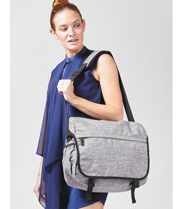 Messenger Bag - Los Angeles - Messenger Bag / sac à bandoulière en polyester 600D (Postman Bag) en grey melange   Un compartimen