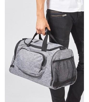 Allround Sports Bag - Boston - Sac de sport multifonctionnel en polyester 600D, petit en grey melange | Un compartiment principa
