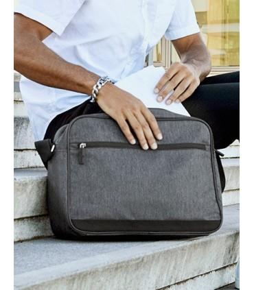 Shoulder Bag - Santiago - Sac à bandoulière en polyester 600D en anthracite | Un compartiment principal avec fermeture zippée |