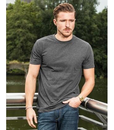 T-Shirt Round Neck - Jersey simple | Étiquette neutre indiquant la taille, sans marquage, adaptée à l'impression au niveau de la