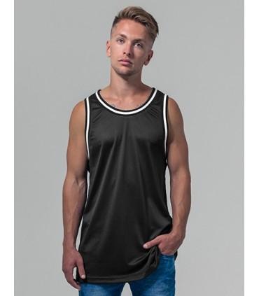 Mesh Tanktop - Maille en polyester | Coupe longue | Étiquette neutre indiquant la taille, sans marquage, adaptée à l'impression