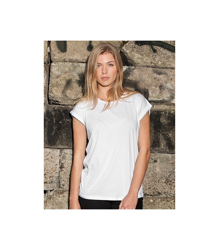 Ladies` Extended Shoulder Tee