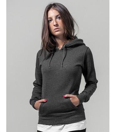 Ladies` Heavy Hoody - Tissue sweat intérieur gratté | Étiquette neutre indiquant la taille, sans marquage, adaptée à l'impressio
