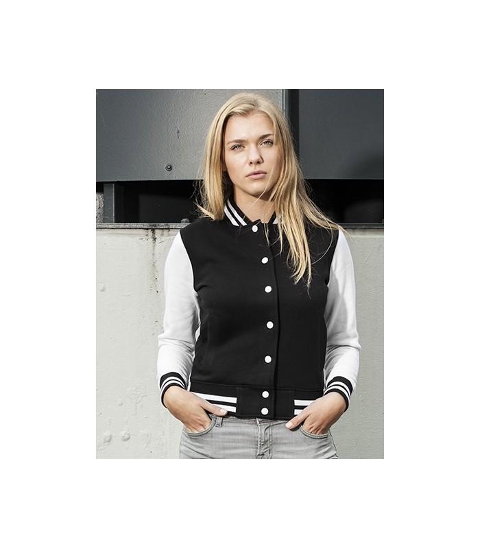 Ladies` Sweat College Jacket