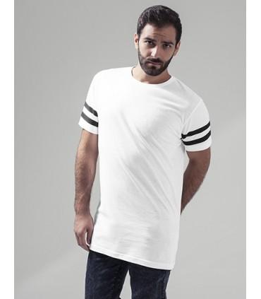 Stripe Jersey Tee - Jersey simple | Manches montées | Petite manchette côtelée au cou | Rayures à chevrons à la mode | Étiquette